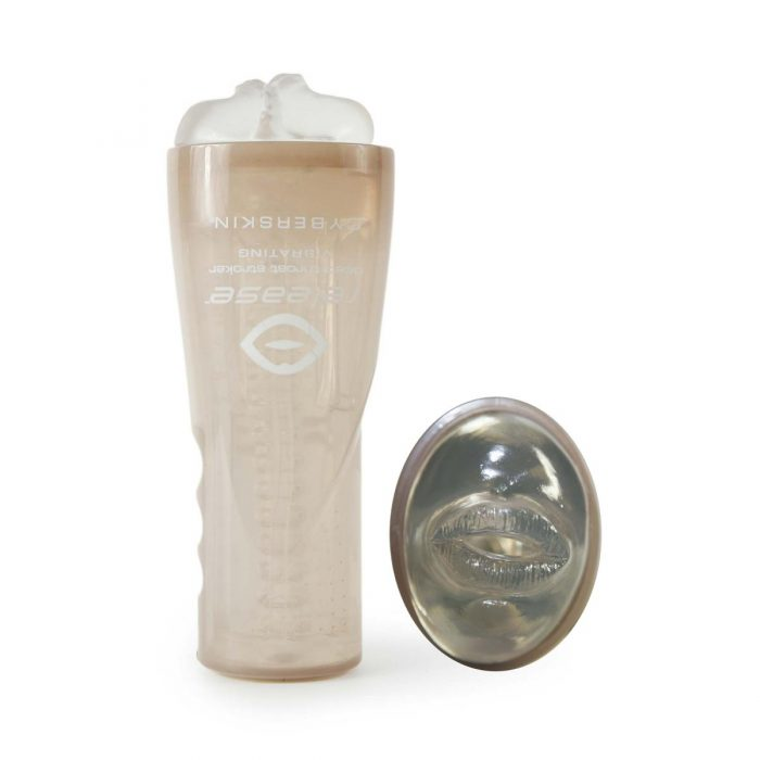 Cyberskin Release Deep Throat Stroker - Vibrating - Clear
