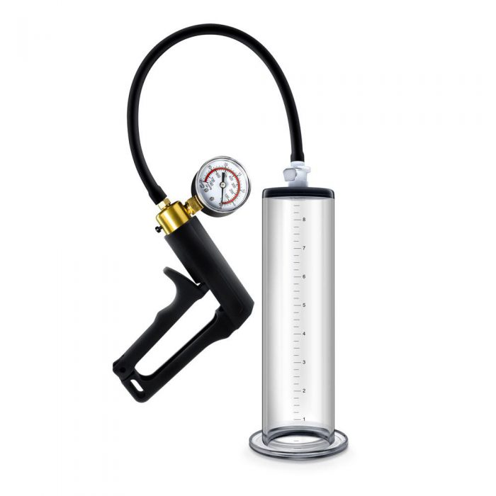 Performance - Vx7 Vacuum Penis Pump With Brass  Trigger & Pressure Gauge - Clear