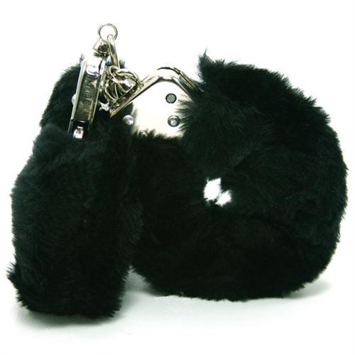 Plush Love Cuffs - Black