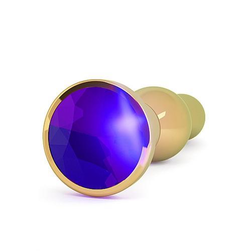 Rich R4 Gold Metal Plug - 4.8 Inch - Dark Purple Sapphire