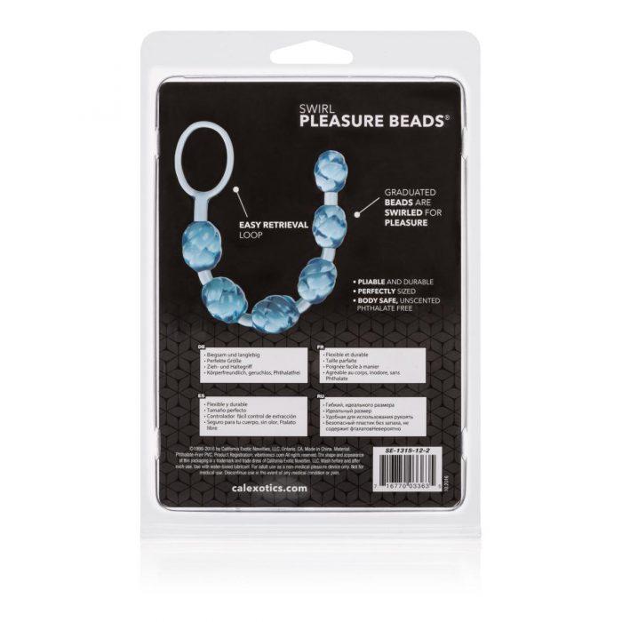Swirl Pleasure Beads - Blue
