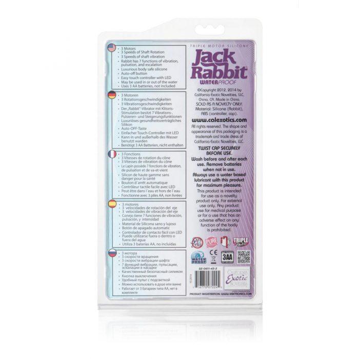 Triple Motor Silicone Jack Rabbit - Purple