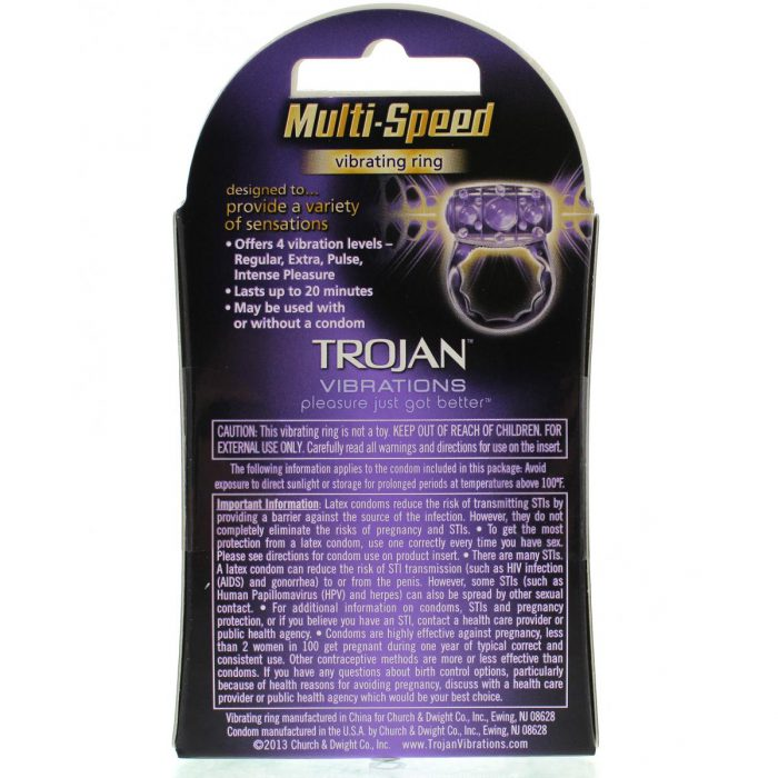 Trojan Vibrations Multi-Speed Vibrating Ring