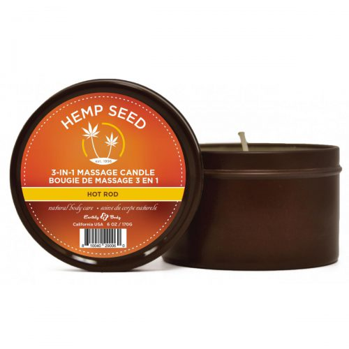 3-in-1 Massage Candle Hot Rod With Hemp 6oz