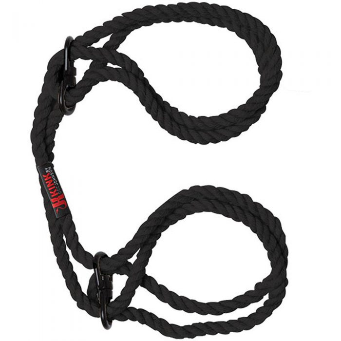 Kink - Hogtied - Bind & Tie - 6mm Hemp Wrist or  Ankle Cuffs - Black