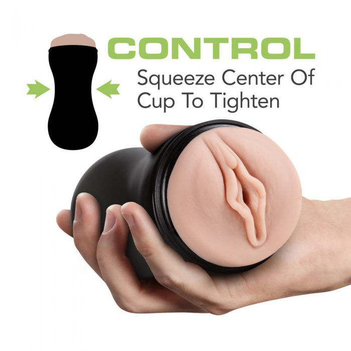 M for Men - Soft and Wet - Pussy With Pleasure Ridges - Self Lubricating Stroker Cup - Vanilla