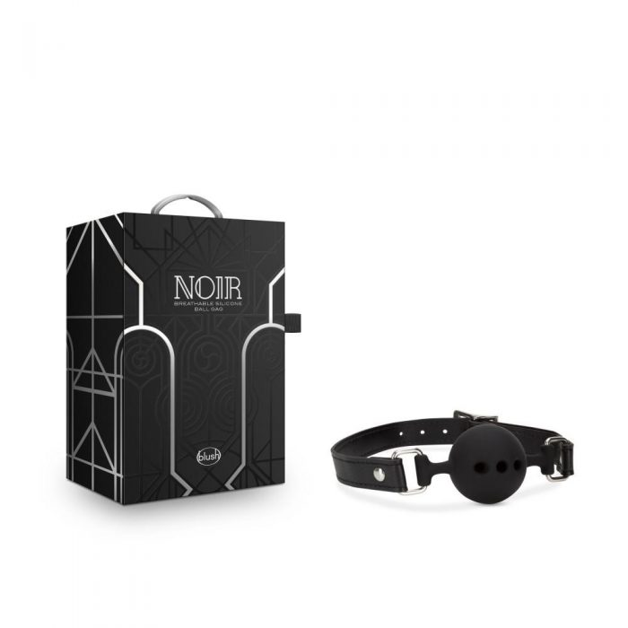 Noir - Breathable Silicone Ball Gag - Black
