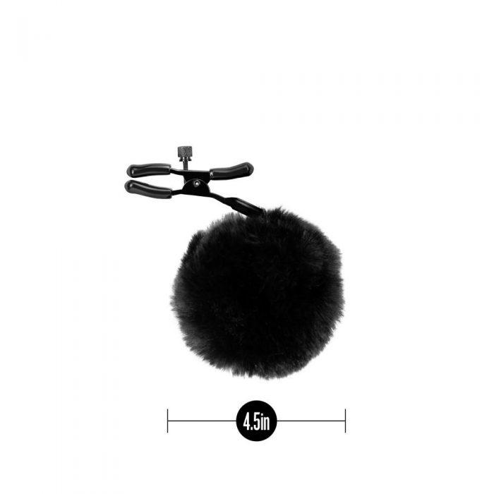 Noir - Pom Adjustable Nipple Clamps - Black