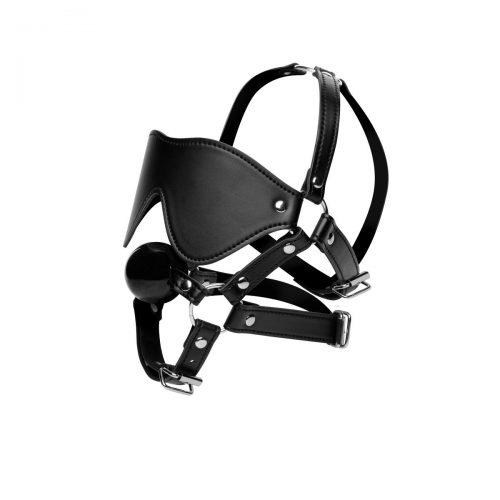 Blindfold Harness + Ball Gag
