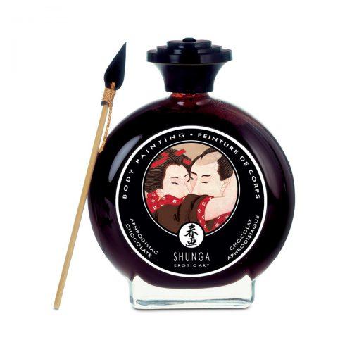 Edible Body Paint - Aphrodisiac Chocolate - 3.5 Fl. Oz. / 100 ml
